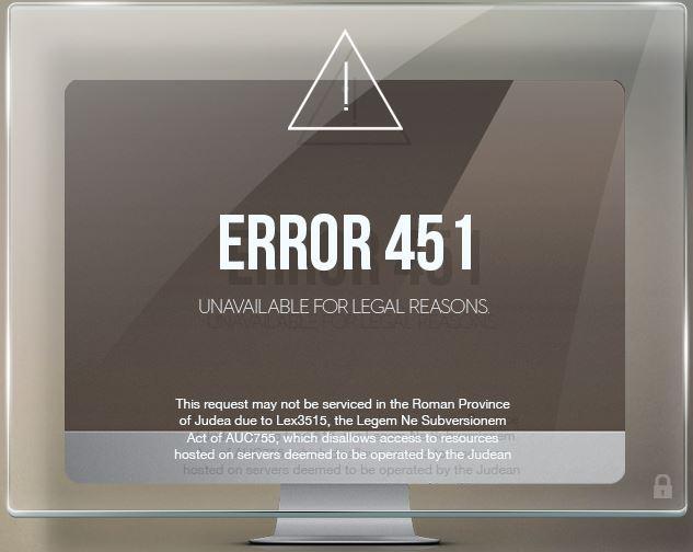 [error 451]