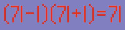 (71-1)(71+1)=71