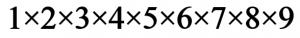 1x2x3x4x5x6x7x8x9