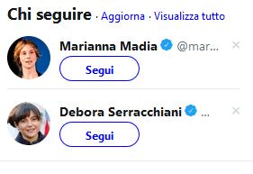 [chi seguire? Marianna Madia e Debora Serracchiani]